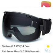 Smith I/OX Goggles 2015, Black Sabotage-Blackout + Bonus Lens, medium