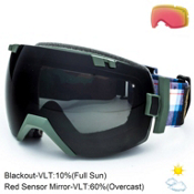 Smith I/OX Goggles 2015, Cyprus Plammo-Blackout + Bonus Lens, medium