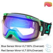 Smith I/OX Goggles, Kelly Digital-Blue Sensor Mirror + Bonus Len, medium