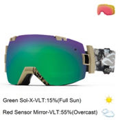 Smith I/OX Goggles, Xavier Voodoo-Green Sol X + Bonus Lens, medium