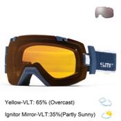Smith I/OX Goggles, Navy Archive-Yellow Sensor Mirror + Bonus Lens, medium