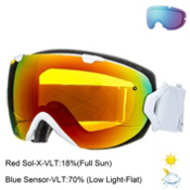 Smith I/OS Womens Goggles 2015, White Prism-Red Sol X, medium