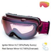 Smith I/OS Womens Goggles 2015, Blackberry-Ignitor + Bonus Lens, medium