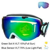Smith I/OS Womens Goggles 2015, Pastel Camo-Green Sol X + Bonus Lens, medium