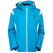 Spyder Prevail Womens Insulated Ski Jacket, Riveira-White-Silver, medium