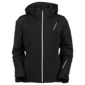 Spyder Prevail Womens Insulated Ski Jacket, Black-Black Sparkle-Silver, medium