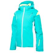 Spyder Prevail Womens Insulated Ski Jacket, Robins Egg-White-Bryte Yellow, medium