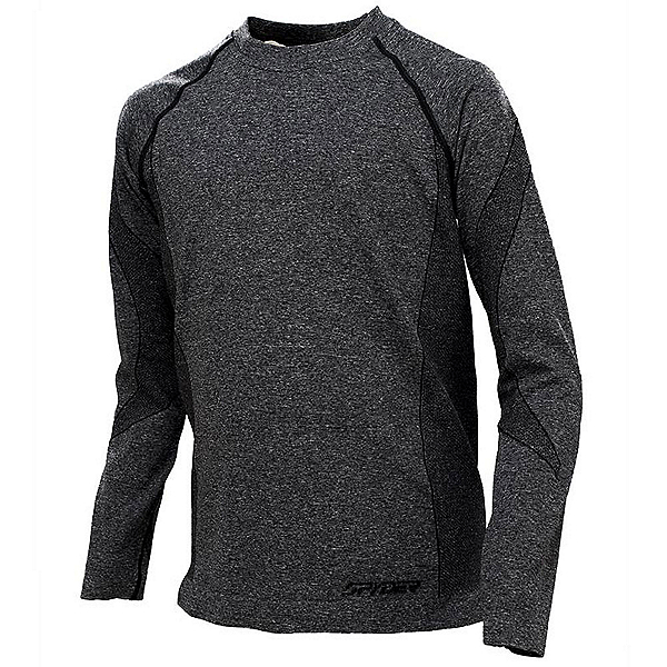 Spyder Cheer Long Sleeve Girls Long Underwear Top (Previous Season), Black, 600