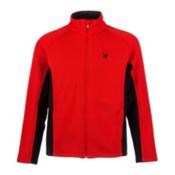 Spyder Core Foremost Full Zip Mens Sweater, Volcano, medium
