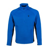 Spyder Core Pitch Half Zip Heavyweight Mens Sweater, Stratos Blue, medium