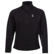 Spyder Core Pitch Half Zip Heavyweight Mens Sweater, Black, medium
