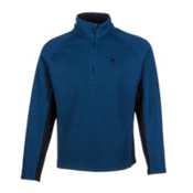 Spyder Core Pitch Half Zip Heavyweight Mens Sweater, Poseidon, medium