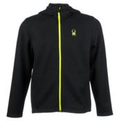 Spyder Core Upward Full Zip Midweight Mens Sweater, Black-Acid, medium