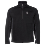 Spyder Core Outbound Half Zip Midweight Mens Sweater, Black-Black-Black, medium