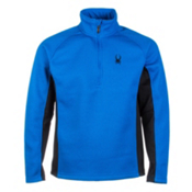 Spyder Core Outbound Half Zip Midweight Mens Sweater, Stratos Blue-Black-Stratos Blu, medium