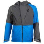 686 Glacier Hydra Thermagraph Mens Shell Snowboard Jacket, Blue Heather Twill Colorblaock, medium