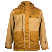 686 Authentic Smarty Form Mens Insulated Snowboard Jacket, Duck Texture Colorblock, medium