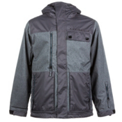 686 Authentic Smarty Form Mens Insulated Snowboard Jacket, Gunmetal Texture, medium