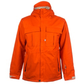 686 Authentic Moniker Mens Insulated Snowboard Jacket, Tomato Herringbone Denim, medium