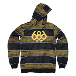 686 Airflight Advantage Bonded Mens Hoodie, Black Rugby Stripe, 256