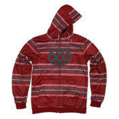 686 Airflight Advantage Bonded Mens Hoodie, Blood Rugby Stripe, medium