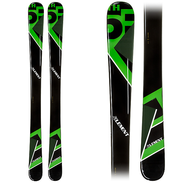 5th Element Green Machine Kids Skis, Green-Black, 600