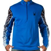 Spyder Webstrong Dry WEB T Neck Mens Mid Layer, Stratos Blue-Black-White, medium