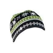 Spyder Courmayeur Hat, Black-Mantis Green-White, medium