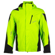 Spyder Chambers Mens Insulated Ski Jacket, Bryte Green-Black-Black, medium