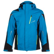 Spyder Chambers Mens Insulated Ski Jacket, Electric Blue-Black-Acid, medium