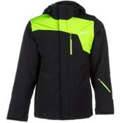 Spyder Scout Mens Insulated Ski Jacket, Black-Mantis Green, medium