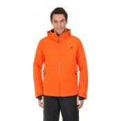 Volkl Black Knight Mens Insulated Ski Jacket, Orange, medium