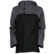 686 Authentic Smarty Path Womens Insulated Snowboard Jacket, Gunmetal Colorblock Texture, medium