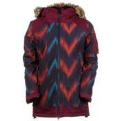 686 Authentic Aerial Womens Insulated Snowboard Jacket, Navy Ikat Colorblock, medium