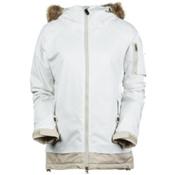 686 Authentic Aerial Womens Insulated Snowboard Jacket, White Herringbone Denim, medium