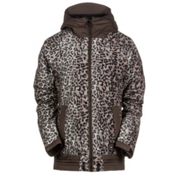 686 Authentic Lynx Womens Insulated Snowboard Jacket, Tobacco Leopard Lace, medium
