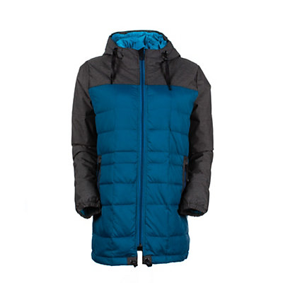 686 Airflight Down Parka Womens Insulated Snowboard Jacket, Coffee, viewer