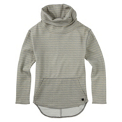 Burton Ellmore Pullover Womens Sweatshirt, Dove Heather Hatch Stripe, medium
