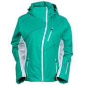 Nils Turi Womens Insulated Ski Jacket, Mint-White-Ocean, medium