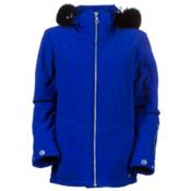 Nils Terri Real Fur Womens Insulated Ski Jacket, Lapis, medium