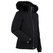 Nils Terri Real Fur Womens Insulated Ski Jacket, Black, medium