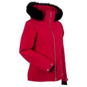 Nils Terri Real Fur Womens Insulated Ski Jacket, Red, medium