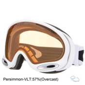 Oakley A Frame 2.0 Goggles, Polished White-Persimmon, medium