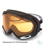 Oakley A Frame 2.0 Goggles, Jet Black-Persimmon, medium
