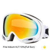 Oakley A Frame 2.0 Goggles, Polished White-Fire Iridium, medium