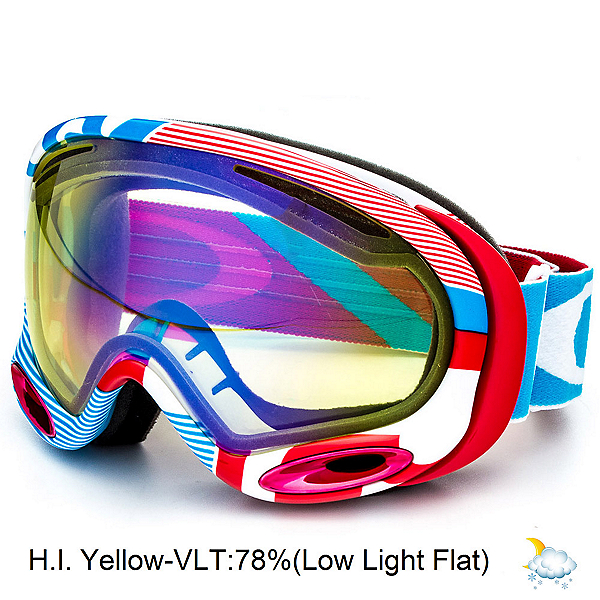 Oakley A Frame 2.0 Goggles, 1975 Red Blue-H.i. Yellow, 600