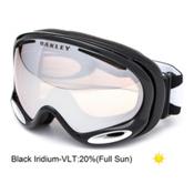 Oakley A Frame 2.0 Goggles, Jet Black-Black Iridium, medium