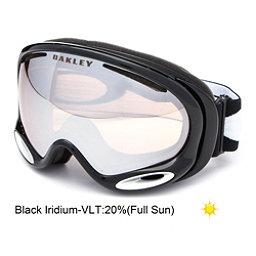 Oakley A Frame 2.0 Goggles, Jet Black-Black Iridium, 256