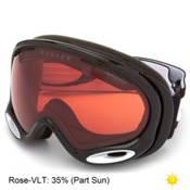 Oakley A Frame 2.0 Prizm Goggles, Jet Black-Prizm Rose, medium