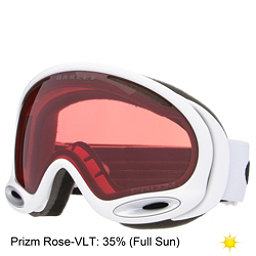 Oakley A Frame 2.0 Prizm Goggles, Polished White-Prizm Rose, 256